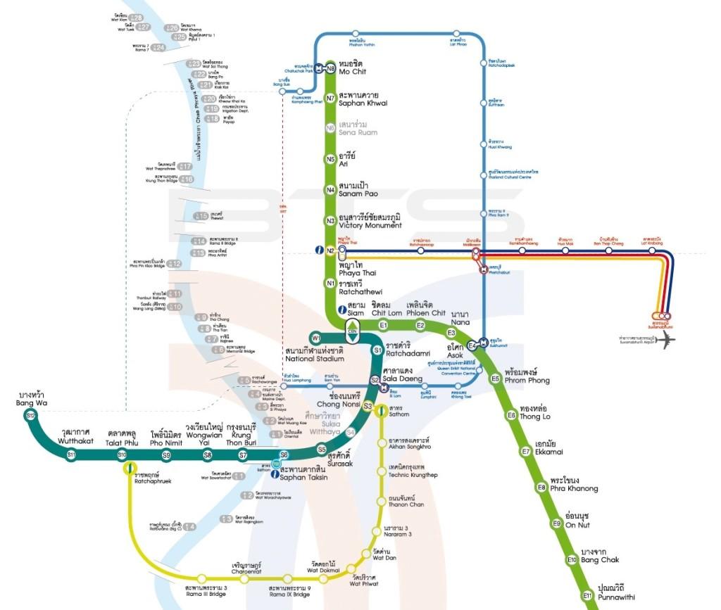Bangkok-Thailand Map