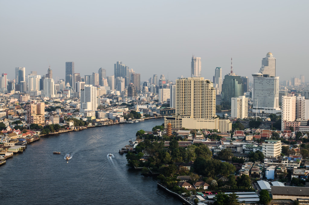 Bangkok View Along Chaphraya River
